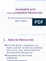 Renewable and Nonrenewable Resources Notes