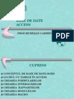 BAZE DE DATE PREZENTARE