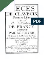 Royer, Joseph-Nicolas-Pancrace - Pieces de Clavecin 1746