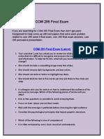 COM 295 Final Exam