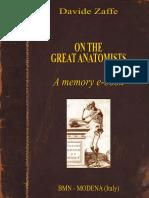 On the Great Anatomists - Davide Zaffe