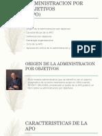 Presentación administracion por obejetivos