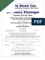 Kissinger Invite