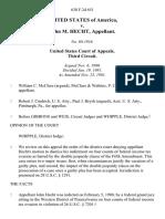 United States v. John M. Hecht, 638 F.2d 651, 3rd Cir. (1981)