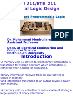 EEE 211or ETE211- Class 21- Memory and Programmabl