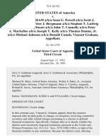United States v. Vincent K. Graham A/K/A Sean G. Powell A/K/A Scott J. Christensen A/K/A Peter J. Bergmann A/K/A Stephen T. Ludwig A/K/A Charles D. Stuart A/K/A John T. Connelly A/K/A Peter A. Markellos A/K/A Joseph T. Kelly A/K/A Thomas Damus, Jr. A/K/A Michael Johnson A/K/A Donald Canale, Vincent Graham, 72 F.3d 352, 3rd Cir. (1995)