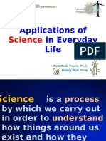 Application of Science in Everyday Life