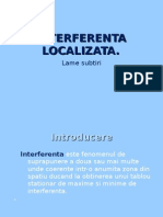 Interferenta localizata