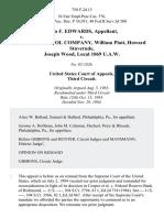 John F. Edwards v. Boeing Vertol Company, William Platt, Howard Stuverude, Joseph Wood, Local 1069 U.A.W, 750 F.2d 13, 3rd Cir. (1984)