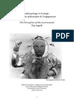 Anthropologie Et Ecologie Pour Une Philo