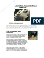 ICTWater Pollution FAQ