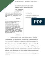 MIT Complaint