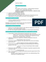 notes curriculum stdies