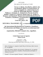 Robert D. Shaffer, Leo A. Burke, Jean Burke, Admstx. Est. Leo Burke, Deceased, Ronald D. Bicker, H. Kneff Means, W. Clair Houk, Clifford G. Campbell, Jr., John R. Barron, H. Clair Walker, Charles H. McKeough Russell L. Schooley, William A. Gierlach, Jr., Kimberly O. Parrott, Fred M. Sheffler, Charles W. Cameron, Daniel Nagy, Jr., Walter G. Romano, and Donald W. Boylan International Brotherhood of Teamsters, Chauffeurs, Warehousemen and Helpers of America, Local 261, Interv. Plf. v. Mitchell Transport, Inc., a Corporation, Local No. 261 of the International Brotherhood of Teamsters, Chauffeurs, Warehousemen and Helpers of America, an Unincorporated Labor Organization, Mitchell Transport, Inc., 635 F.2d 261, 3rd Cir. (1980)