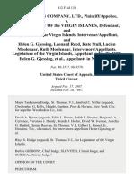 West Indian Company, Ltd. v. Government of the Virgin Islands, and Legislature of the Virgin Islands, Intervenor/appellant, and Helen G. Gjessing, Leonard Reed, Kate Stull, Lucien Moolenaar, Ruth Moolenaar, Intervenors/appellants. Legislature of the Virgin Islands, in No. 86-3577, Helen G. Gjessing, in No. 86-3578, 812 F.2d 134, 3rd Cir. (1987)