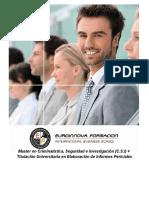 Master en Criminalística, Seguridad e Investigación (C.S.I) + Titulación Universitaria en Elaboración de Informes Periciales