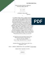 Anthony Williams v. LT. Forte, 3rd Cir. (2013)