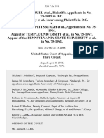 Cynthia Jo Samuel, in No. 75-1965 in D.C. Patricia Farley, Intervening in D.C. v. University of Pittsburgh, in No. 75-1966. Appeal of Temple University, in No. 75-1967. Appeal of the Pennsylvania State University, in No. 75-1968, 538 F.2d 991, 3rd Cir. (1976)