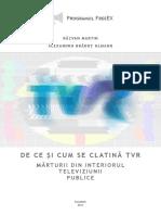 Raport - De Ce Si Cum Se Clatina TVR