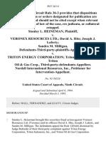 Stanley L. Heineman v. Veronex Resources Ltd. David A. Hite Joseph J. Laferty Sandra M. Milligan, Defendants-Third-Party-Plaintiffs-Appellants v. Triton Energy Corporation Triton Indonesia, Inc. Triton Oil & Gas Corp., Third-Party-Defendants-Appellees. Nordell International Resources, Inc., for Intervention-Appellant, 50 F.3d 14, 3rd Cir. (1995)