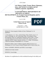 Regis J. Kirby, Marie Maiers, Emily Traum, Henry Simmons, Patrick Maloney, and Norbert Loveland, and All Others Similarly Situated v. United States Government, Department of Housing & Urban Development, St. Francis General Hospital, and St. Francis Plaza, Inc, 675 F.2d 60, 3rd Cir. (1982)