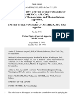 Local Union 1397, United Steelworkers of America, Afl-Cio Ronald Weisen Thomas Jugan and Thomas Katona v. United Steelworkers of America, Afl-Cio, 748 F.2d 180, 3rd Cir. (1984)