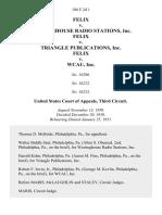 Felix v. Westinghouse Radio Stations, Inc. Felix v. Triangle Publications, Inc. Felix v. Wcau, Inc, 186 F.2d 1, 3rd Cir. (1951)