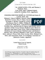 Cardio-Medical Associates, Ltd. And Thomas J. McBride M.D., and Paul T. Cass, M.D., and C. Richard Schott, M.D., and Michael B. Goodkin, M.D. v. Crozer-Chester Medical Center and James H. Loucks, M.D., and Michael C. Boyd, William J. Breece, John F. Crampt, Esq., Daniel R. Curran, Mary E. Dale, Conrad A. Etzel, M.D., Jeremiah A. Hartley, Joseph R. Layton, Rev. David A. MacQueen Peter L. Miller, William B. Mitchell, Jr., Clarence R. Moll, ph.d., J. Harold Perrine, Malcolm B. Petrikin, Esq., and Bertram M. Speare Individually and as Members of the Crozer-Chester Medical Center Board of Directors and James Clark, M.D., Chief of Department of Medicine of Crozer-Chester Medical Center and Daniel J. Marino, M.D., David R. Mishalove, M.D., Joel A. Krackow, M.D., Adrian S. Weyn, M.D., Peter Lavine, M.D., Michael Yow, M.D., and Ancil Jones, M.D., T/a Cardiology Associates of Delaware County, 721 F.2d 68, 3rd Cir. (1983)