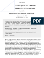 The F. C. Russell Company v. Consumers Insulation Company, 226 F.2d 373, 3rd Cir. (1955)