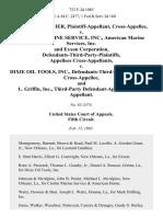 Leonard Gauthier, Cross-Appellee v. Crosby Marine Service, Inc., American Marine Services, Inc. And Exxon Corporation, Defendants-Third-Party-Plaintiffs, Cross-Appellants v. Dixie Oil Tools, Inc., Defendants-Third-Party-Defendant, Cross-Appellee, and L. Griffin, Inc., Third-Party Cross-Appellant, 752 F.2d 1085, 3rd Cir. (1985)