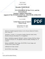 Renaldo Nehemiah v. The Athletics Congress of the U.S.A. And the International Amateur Athletic Federation. Appeal of the International Amateur Athletic Federation, 765 F.2d 42, 3rd Cir. (1985)