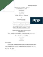 United States v. Gregory Carter, 3rd Cir. (2012)