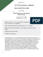 United States v. Robert David Villard, 885 F.2d 117, 3rd Cir. (1989)