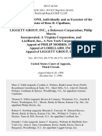 Antonio Cipollone, Individually and as of the Estate of Rose D. Cipollone v. Liggett Group, Inc., a Delaware Corporation Philip Morris Incorporated, a Virginia Corporation, and Lorillard, Inc., a New York Corporation. Appeal of Philip Morris, Inc. Appeal of Lorillard, Inc. Appeal of Liggett Group, Inc, 893 F.2d 541, 3rd Cir. (1990)