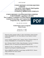In the Matter of Union Deposit Center Equities Limited Partnership (Formerly Union Deposit Mall Equities Limited Partnership), Debtor. Industrial National Mortgage Company v. Union Deposit Center Equities Limited Partnership, in 80-1821 the Creditors' Committee of Union Deposit Center Equities Limited Partnership, and Commercial & Industrial Properties, Inc., in 80-1822, 639 F.2d 1045, 3rd Cir. (1981)