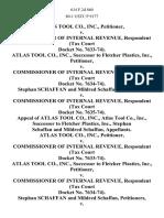 Atlas Tool Co., Inc. v. Commissioner of Internal Revenue, (Tax Court Docket No. 7633-74). Atlas Tool Co., Inc., Successor to Fletcher Plastics, Inc. v. Commissioner of Internal Revenue, (Tax Court Docket No. 7634-74). Stephan Schaffan and Mildred Schaffan v. Commissioner of Internal Revenue, (Tax Court Docket No. 7635-74). Appeal of Atlas Tool Co., Inc., Atlas Tool Co., Inc., Successor to Fletcher Plastics, Inc., Stephan Schaffan and Mildred Schaffan, Atlas Tool Co., Inc. v. Commissioner of Internal Revenue, (Tax Court Docket No. 7633-74). Atlas Tool Co., Inc., Successor to Fletcher Plastics, Inc. v. Commissioner of Internal Revenue, (Tax Court Docket No. 7634-74). Stephan Schaffan and Mildred Schaffan v. Commissioner of Internal Revenue, (Tax Court Docket No. 7635-74). Appeal of Commissioner of Internal Revenue, 614 F.2d 860, 3rd Cir. (1980)