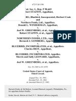 Fed. Sec. L. Rep. P 98,465 Robert Staffin v. Joel W. Greenberg, Bluebird, Incorporated, Herbert Cook and Northern Foods, Ltd., Donald L. Winderman v. Joel W. Greenberg, Robert Staffin v. Northern Foods, Ltd., Bernard J. Gomberg v. Bluebird, Incorporated, Charles Heit v. Bluebird, Incorporated, Morris and Sally Leonard v. Joel W. Greenberg, 672 F.2d 1196, 3rd Cir. (1982)