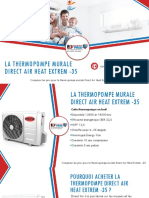 Thermopompe murale Direct Air Heat Extrem - comparer 3 prix