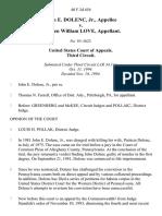 John E. Dolenc, Jr. v. Warden William Love, 40 F.3d 656, 3rd Cir. (1994)