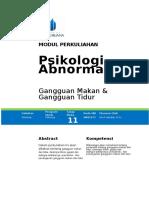 P12. Gangguan Makan Dan Tidur