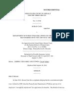 Koran Cain v. Dept Pub Welfare Ofc Sec Recon, 3rd Cir. (2011)