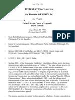 United States v. Leslie Thomas Weadon, Jr, 145 F.3d 158, 3rd Cir. (1998)