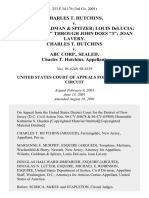"Charles T. Hutchins v. Wilentz, Goldman & Spitzer Louis Delucia John Does ""1"" Through John Does ""3"" Joan Lavery. Charles T. Hutchins v. Abc Corp., Sealed. Charles T. Hutchins, 253 F.3d 176, 3rd Cir. (2001)"