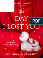 The Day I Lost You by Fionnuala Kearney - extract
