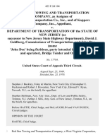 Red Star Towing and Transportation Company, as Assignee of Bouchard Transportation Co., Inc., and of Koppers Company, Inc. v. Department of Transportation of the State of New Jersey (As Successor to New Jersey State Highway Department), David J. Goldberg, Commissioner of Transportation, and John Doe (Name 'John Doe' Being Fictitious, Party Intended is Bridge Tender and Operator), Bridge Tender and Operator, 423 F.2d 104, 3rd Cir. (1970)