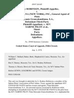 G. Rodney Robinson v. Grancolombiana (New York), Inc., General Agent of Flota Mercante Grancolombiana, S.A., Defendant-Third-Party v. M/v Sabine Pilot, Third- Party Defendants, 430 F.2d 645, 3rd Cir. (1970)
