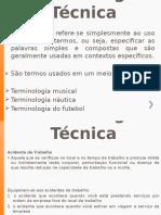 3- Terminologia Técnica