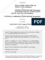 Department Store Food Corp. Of Pennsylvania v. National Labor Relations Board, Retail Clerks International Association, Local 1538, Afl-Cio v. National Labor Relations Board, 415 F.2d 74, 3rd Cir. (1969)