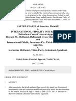 United States v. International Fidelity Insurance Co., Defendant-Cross-Claimant-Appellee, Howard W. McDaniel Defendant-Cross-Claimant-Appellant, and International Fidelity Insurance Co., Third-Party-Plaintiff-Appellee v. Katherine McDaniel Third-Party-Defendant-Appellant, 166 F.3d 349, 3rd Cir. (1998)