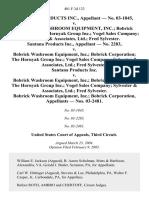 SANTANA PRODUCTS INC., — NO. 03-1845 v. BOBRICK WASHROOM EQUIPMENT, INC. BOBRICK CORPORATION THE HORNYAK GROUP INC. VOGEL SALES COMPANY SYLVESTER & ASSOCIATES, LTD. FRED SYLVESTER. SANTANA PRODUCTS INC., — NO. 2283 v. BOBRICK WASHROOM EQUIPMENT, INC. BOBRICK CORPORATION THE HORNYAK GROUP INC. VOGEL SALES COMPANY SYLVESTER & ASSOCIATES, LTD. FRED SYLVESTER. SANTANA PRODUCTS INC. v. BOBRICK WASHROOM EQUIPMENT, INC. BOBRICK CORPORATION THE HORNYAK GROUP INC. VOGEL SALES COMPANY SYLVESTER & ASSOCIATES, LTD. FRED SYLVESTER. BOBRICK WASHROOM EQUIPMENT, INC. BOBRICK CORPORATION, — NOS. 03-2481, 401 F.3d 123, 3rd Cir. (2005)